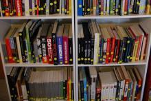 Biblioteca com mais de 300 livros de Cinema